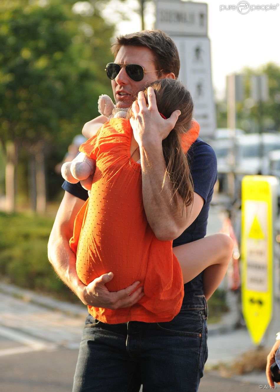 Tom Cruise et Suri au Chelsea Piers de New York le 17 juillet 2012