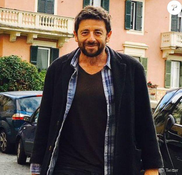 Patrick Bruel en tournage à Rome le 21 octobre 2016