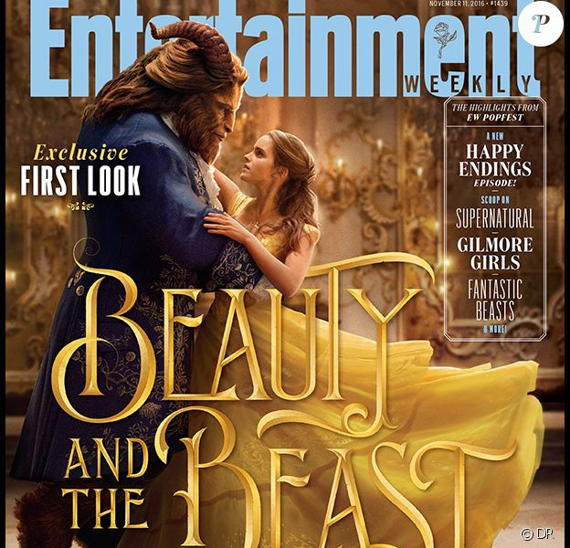 Emma Watson et Dan Stevens en couverture d'Entertainment Weekly pour La Belle et la Bête