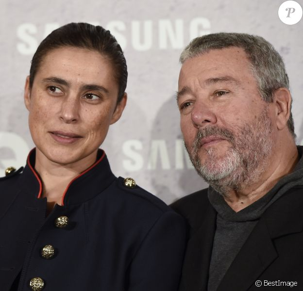 Philippe Starck et sa femme Jasmine Abdellatif Starck- Première édition des Hombres del Año GQ 2016 à Madrid, le 3 novembre 2016.