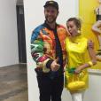 Miley Cyrus et Liam Hemsworth dans une galerie d'art de Los Angeles le 5 novembre 2016.