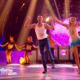 """Caroline Receveur et Maxime Dereymez - """"Danse avec les stars 7"""" sur TF1. Le 10 novembre 2016."""