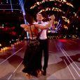 """Julien Lepers et Silvia Notargiacomo - """"Danse avec les stars 7"""" sur TF1. Le 10 novembre 2016."""