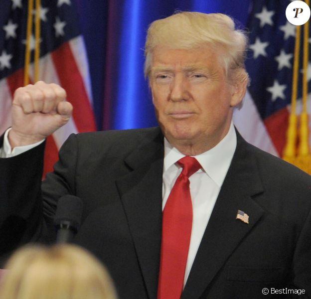 Le candidat républicain à l'élection présidentielle Donald Trump lors d'une conférence de presse au Trump Soho Hotel à New York, le 22 juin 2016.