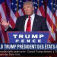 Donald Trump prononce son premier discours en tant que président des Etats-Unis à New York le mercredi 9 novembre.
