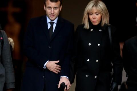 Emmanuel Macron : Aux obsèques de son mentor, son épouse Brigitte le soutient