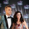 """Robbie Williams, Jenifer Bartoli à la 18ème cérémonie des """"NRJ Music Awards"""" au Palais des Festivals à Cannes, le 12 novembre 2016. © Dominique Jacovides/Bestimage"""
