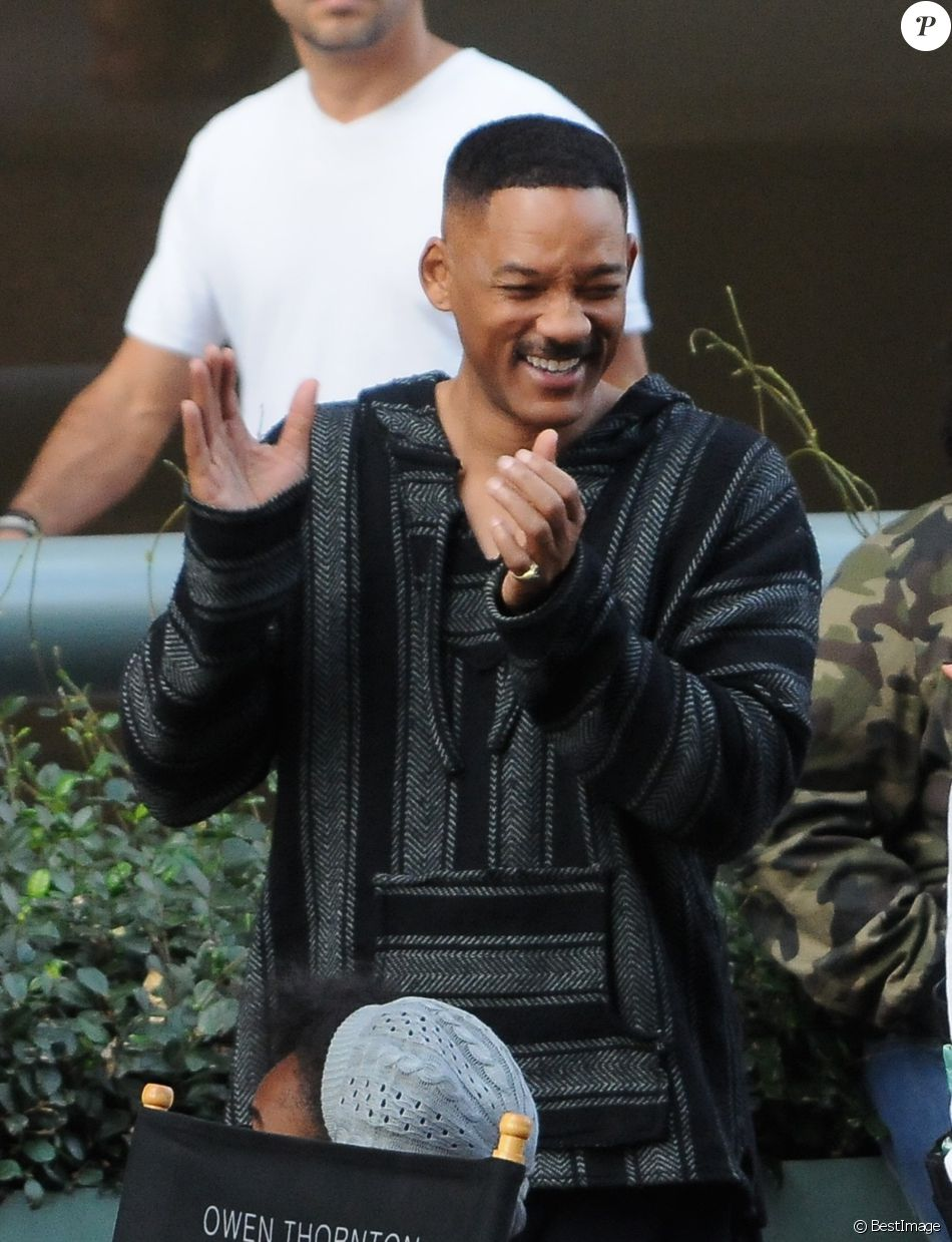 Will Smith et Joel Edgerton sur le tournage de 'Bright' à Los Angeles le 12 novembre 2016