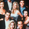 La casting de Beverly Hills, 90210 en 1990.