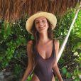 Photo d'Emily Ratajkowski en vacances à l'Hotel Esencia à Xpu-Ha, au Mexique. Novembre 2016.
