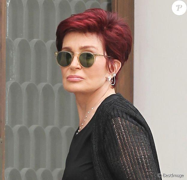 Exclusif - Sharon Osbourne dans les rues à Los Angeles Le 23 Juillet 2016