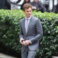 """Jamie Dornani sur le tournage de film """"Fifty Shades of Grey"""" à Vancouver, le 13 octobre 2014."""