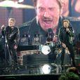 """Eddy Mitchell, Johnny Hallyday et Jacques Dutronc - Premier concert """"Les Vieilles Canailles"""" à l'AccorHotels Arena à Paris, du 5 au 10 novembre 2014."""