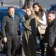 Semi-Exclusif - Gigi Hadid arrive au Grand Palais, lieu du défilé Victoria's Secret 2016. Paris, le 28 novembre 2016.