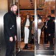 Kendall Jenner et Gigi Hadid quittent le magasin Gucci au 2, du Faubourg Saint-Honoré. Paris, le 28 novembre 2016.