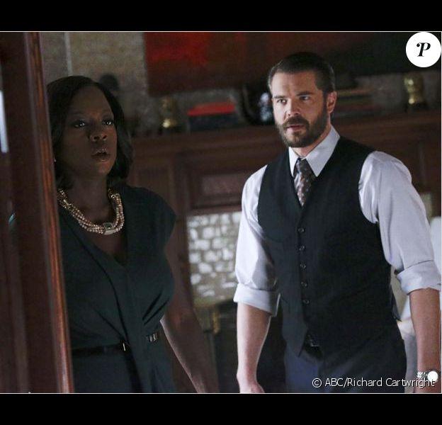 """Viola Davis et Charlie Weber dans """"Murder"""" - saison 2 sur M6 à partir du 1er décembre 2016."""