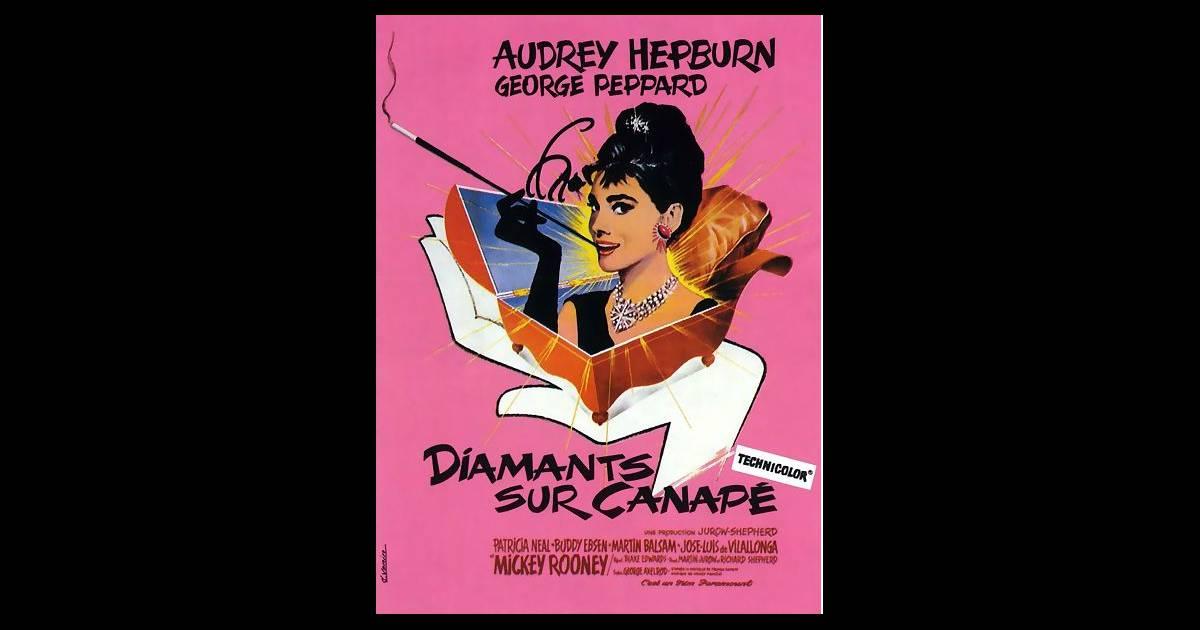 l affiche de diamants sur canap 233