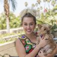 """Miley Cyrus en conférence de presse pour la série tv """"Crisis in Six Scenes"""" à l'hôtel Four Seasons de Beverly Hills, le 7 septembre 2016."""