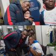 Blaise Matuidi à la re,ncontre des enfants avec la fondation du PSG. Photo postée sur Instagram en décembre 2016.