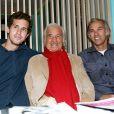 """Victor Belmondo, Jean-Paul Belmondo, Paul Belmondo - A l'occasion du lancement de son nouveau livre """"Mes recettes bonne humeur"""" à Paris, le 13 octobre 2016."""