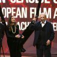"""Volker Schlöndorff, Angela Molina, Jean-Claude Carrière - Cérémonie de remise des prix """"European Film Award (EFA) à Wroclaw(Pologne). Le 10 décembre 2016"""