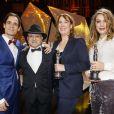 """Thomas Vroege, Issa Touma, Leontine Petit, Floor van der Meulen - Cérémonie de remise des prix """"European Film Award (EFA) à Wroclaw(Pologne). Le 10 décembre 2016"""