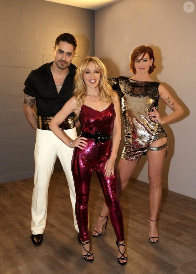 """Exclusif - Kylie Minogue sera l'invitée de la finale de Danse avec les Stars (DALS) le 16 décembre 2016. L'interprète de Can't get you out of my head sera sur la piste pour chanter l'un de ses titres à l'occasion de la réédition de son album de Noël Kylie Christmas sorti initialement en novembre 2015. Fauve Hautot et Nicolas Archambault, vedettes de """"Saturday Night Fever"""", assureront une magnifique chorégraphie de la comédie musicale pendant l'interprétation de Kylie Minogue. © Jacovides-Moreau /Bestimage"""
