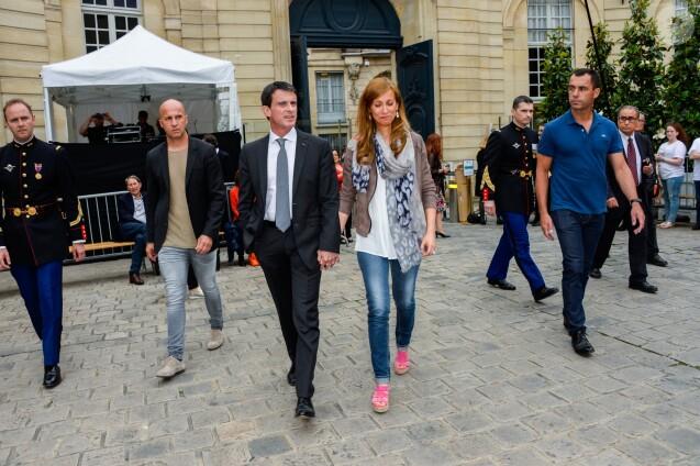 Le premier ministre Manuel Valls et sa femme Anne Gravoin - 35ème Fête de la Musique à l'Hôtel Matignon à Paris, France, le 21 juin 2016. © Coadic Guirec/Bestimage