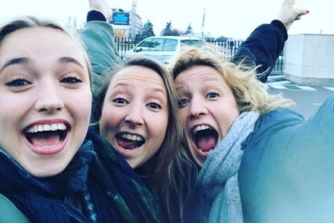 Alexandra Lamy avec sa soeur Audrey et sa fille Chloé : Vacances entre filles