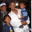 Will Smith et son père avec ses deux fils à Westwood le 30 avril 2002.