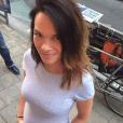 Erika Fleury enceinte de son deuxième petit garçon en juillet 2015.