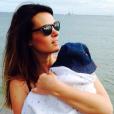 Erika Fleury (Whatfor) et son premier garçon, le 13 juillet 2014.