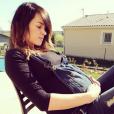 Erika Fleury enceinte de son premier petit garçon, le 6 mars 2014.