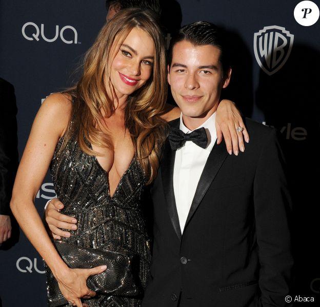 Sofia Vergara et son fils Manolo Gonzalez à la soirée InStyle and Warner Bros. Golden Globes after-party à Los Angeles, le 12 janvier 2014.