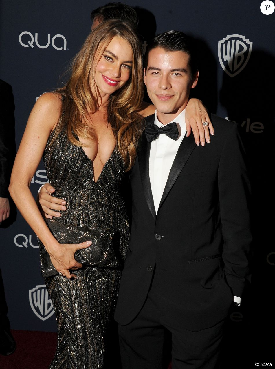 Sofia Vergara et son fils Manolo Gonzalez à la soirée InStyle and Warner Bros. Golden Globes after-party à Los Angeles, le 12 janvier 2014.