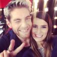 """Karine Ferri, candidate de la saison 7 de """"Danse avec les stars"""", avec son partenaire Yann-Alrick Mortreuil."""