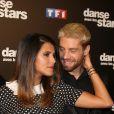 """Karine Ferri et Yann-Alrick Mortreuil au photocall de l'émission """"Danse Avec Les Stars - Saison 7"""" à Boulogne-Billancourt, le 28 septembre 2016."""