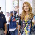 Céline Dion arrive dans les studios de la NBC pour les répétitions de l'émission de Jimmy Fallon à New York. Le 21 juillet 2016