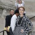 """Céline Dion au défilé de mode Haute-Couture automne-hiver 2016/2017 """"Giambattista Valli"""" à Paris. Le 4 juillet 2016"""