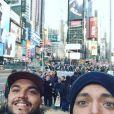 Kev Adams profite de vacances en famille à New York. Décembre 2016.