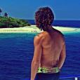 Le beau Laurent Maistret en vacances aux Maldives. Décembre 2016.