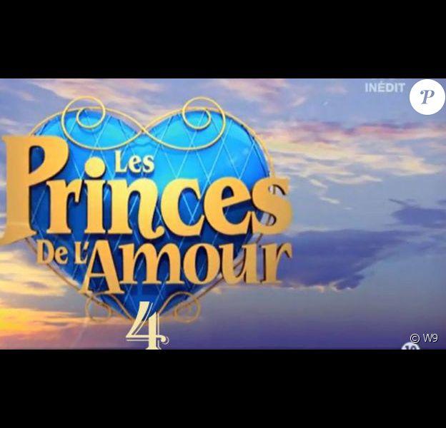 """Logo """"Les Princes de l'amour 4"""" sur W9."""
