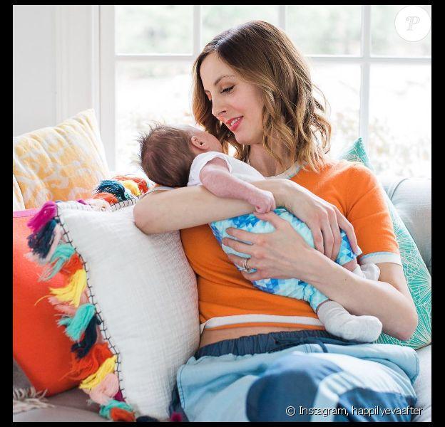 Eva Amurri avec son fils Major (2 mois et demi).