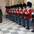 La reine Margrethe II de Danemark lors de la réception du nouvel an au palais de Christianborg des agents de la Défense, des services d'urgences et des responsables des grandes organisations nationales, au matin du 4 janvier 2017.