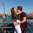 Carla Ginola et son compagnon Adrien en vacances à Los Angeles. Photo postée sur Instagram en janvier 2017.