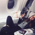 Carla Ginola dans l'avion du retour. Photo postée sur Instagram en janvier 2017.