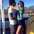 Carla Ginola en vacances avec son compagnon Adrien à Los Angeles. Photo postée sur Instagram en décembre 2016.