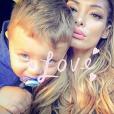 """""""Emilie Nef Naf et son fils Menzo sur Instagram, octobre 2016."""""""
