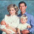 """"""" La princesse Diana et le prince Charles avec leurs fils le prince Harry et le prince William en octobre 1984, après la naissance du prince Harry le mois précédent. """""""
