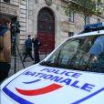 Kim Kardashian a été victime d'un vol à main armée par des assaillants déguisés en policiers à l'hôtel de Pourtalès, au 7, rue Tronchet. Paris, le 3 octobre 2016.